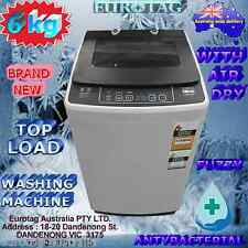 EUROTAG 6KG TOP LOADING WASHING MACHINE WHIT AIR JET DRY BRAND NEW 12 months war