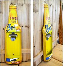 Blechschild Flaschenform Flaschenöffner Wandflaschenöffner Metallschild Schild