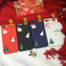 Christmas Elk Gift Hot Cute Cartoon Creative Silicone Phone Case Cover For OPPO
