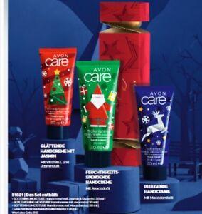 AVON Care 3 x Handcreme im weihnachtlichen Design GESCHENKSET