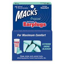 Mack's Original Soft Earplugs 10 Pack - 10 Pair