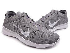 Nike Women's Free TR Flyknit Metallic Shoes Size 12 - Silver Running 804534 002