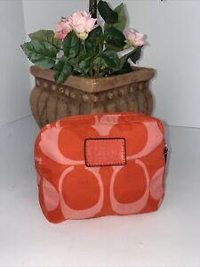 Coach Park Signature Nylon Folding Bag Tote Orange  F66180  B3G