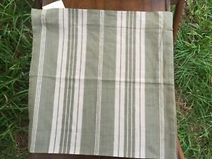 Pottery Barn NWT Pillow Cover Green Fall Stripe Made in India