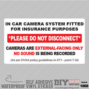 Driving Instructor School Car Camera System Insurance Guidelines Policy Self Adh