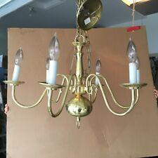 "Williamsburgh Brass 6-Light 24"" CandleChandelier Ceiling Light Used"