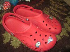 Crocs Baya Red Unisex Men Size 10 Women Size 12 Slip On Clogs Sandals~Ships FREE