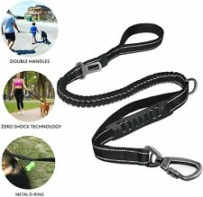 Bungee Dog Leash Friendly to Large Dog with Handle Safety Belt Buckle-150/200lbs
