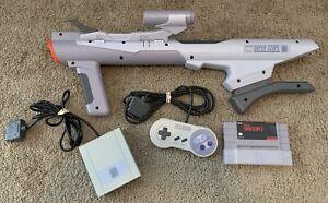 Nintendo SNES Super Scope Bazooka (DEVO) Gun, Super Scope 6 Game, With Parts