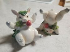 Fitz and Floyd Classics French Market Tumbling Pigs 2 Piece Set Figurines