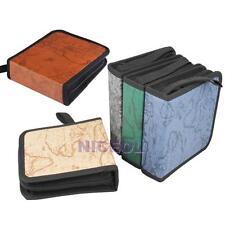 40 Disc CD DVD Storage Holder Carry Case Organizer Holder Wallet Cover Box Album