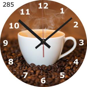 WALL CLOCK COFFEE 25cm Love Cup Mug Kitchen Food and Drink Home Decor diy 285