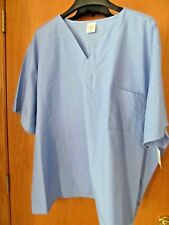 Unisex Periblossom (blue)~ V-Neck Scrub Top/shirt~Plus Size 3X~New w/tags