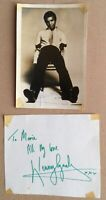 KENNY LYNCH. Genuine Handsigned Photograph 6 x 4. & Signed Page.