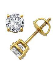 Solitär Diamanten Ohrringe, Ohrstecker in 585 er Gold zu Weihnachten