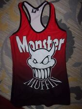 MONSTER MUFFIN WOMAN'S MUSCLE TANK TOP SIZE SMALL