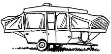 Mounted Rubber Stamps, Pop Up Camper, Vacation, Camping Stamps, Tent, Trailer