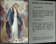 ANTIGUA ESTAMPA HOLY CARD VIRGEN MARIA NOVENA ANDACHTSBILD SANTINI        CC1632