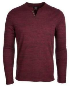 Alfani Mens Textured Space-Dyed Stretch Henley, Various Sizes