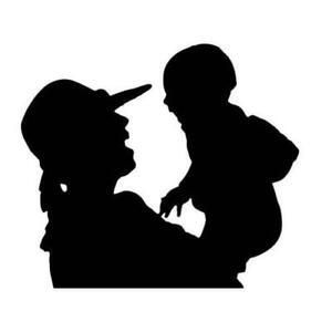 parent and child love baby car van laptop bedroom     Sticky adhesive vinyl
