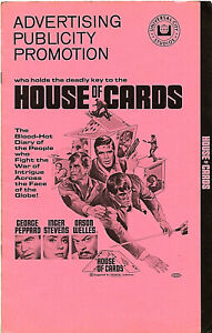 Original • HOUSE OF CARDS • 1968 • GEORGE PEPPARD • Uncut • Complete • Universal