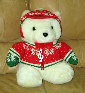 Santa Bear Dayton Hudson 1992 Music Caroler