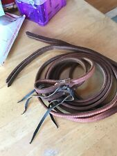 NEW BUCKAROO LEATHER PRODUCTS SPLIT LEATHER REINS