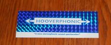 Hoover Phonic Bumper Sticker  Promo 5x2 Holographic