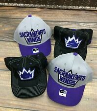 NBA Sacramento Kings Adidas Men Strap & Fitted Hat Lot of 4 Hats Adult Size L/XL