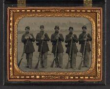 Photo Civil War Union 6th Regiment Massachusetts Volunteer Militia w Muskets