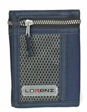 Lorenz Boys Mens Teens Navy Blue Sports Wallet Flap & Back Zip 8000