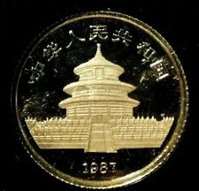 1987 1/10 oz Gold Panda- Nice Coin