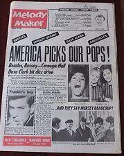 MELODY MAKER JANUARY 25 1964 BEATLES BLUE BEAT BALDRY SHEARING MANN TEAGARDEN