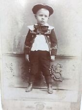SERIOUS YOUNG BOY CABINET CARD 1890s KOESTER BROS.
