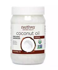 Nutiva Organic Virgin Coconut Oil - 15 oz Solid Cold Pressed UNREFINED