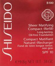 Shiseido Sheer Matifying Compact Refill - VERY DEEP BEIGE B 100 .34 OZ. NIB