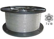 3/16-1/4 7X19 Vinyl Coated Aircraft Cable X 100 FT Control Wire Rope Galvanized