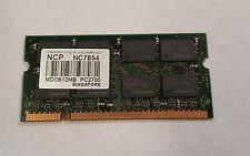 NCP NC7854 512MB DDR 333MHZ Laptop Memory RAM