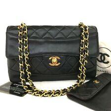 CHANEL Quilted Matelasse CC Logo Lambskin Chain Shoulder Bag w/Wallet /11452