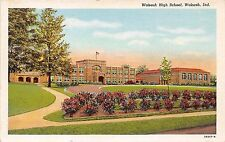 WABASH INDIANA LOT OF 2 POSTCARDS HIGH SCHOOL + POST OFFICE