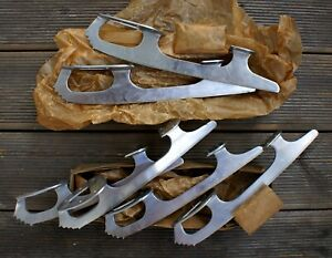 1980'S NEW! RETRO! VINTAGE! Ice figure skate blades. Made in USSR. Total 3 pairs
