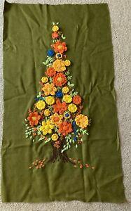 """VINTAGE STUDIO TWELVE- FLOWER TREE PANEL - COMPLETED 16x36"""""""