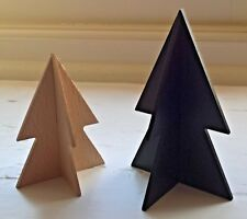Wooden Christmas Trees Set 2 Free Standing Slot Table Top Display East of India