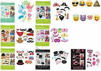 PHOTO BOOTH PARTY PROPS EMOJI SMILEY WEDDING BABY SHOWER HEN PRINCESS PIRATE