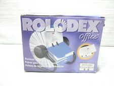 New Rolodex Rotary Business Card File Black With 400 Slotted Cards