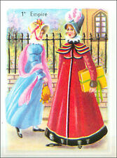 IMAGE CARD Costume Style Empire Napoleon Dame Robe Dress Chapeaux Hat France 60s