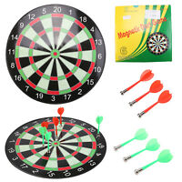 """15"""" Magnetic Kids Toy Play Dart Board Dartboard with 6 Darts Party Game Adults"""