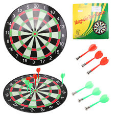 """15"""" Magnetic Kids Toy Play Dart Board Dartboard with 6 Darts"""