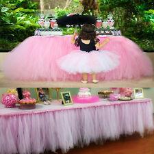 1pc Purple Christmas Tulle Tutu Table Skirt Wedding Party Baby shower Decor CG