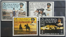 HX35 - Oman 1981 complete set 4v. MNH - National Police Day - Sultan Qaboos